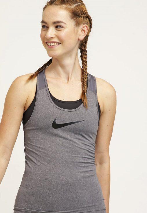Klasyczna Bluzka Bokserka Top Fitness Nike szara
