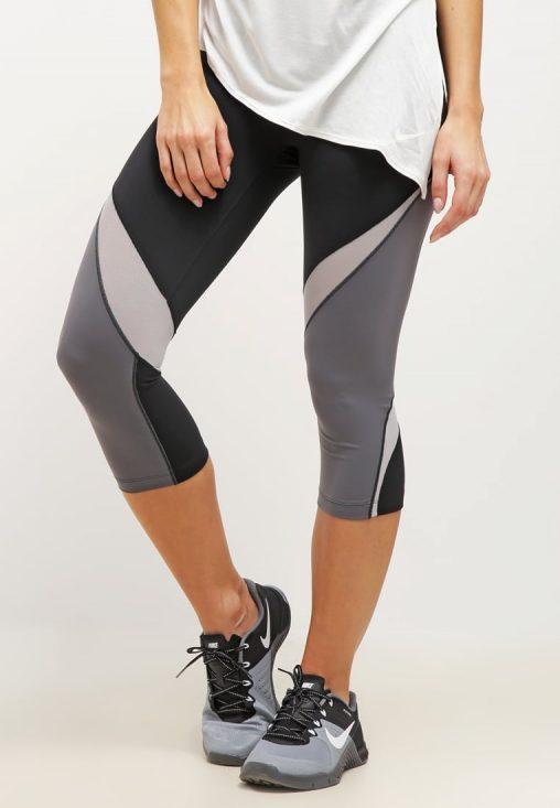 Legginsy sportowe fitness czarno szare