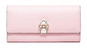 Długi damski portfel różowy