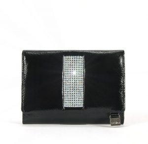 Skórzany portfel Giovanni z kryształkami Swavorskiego