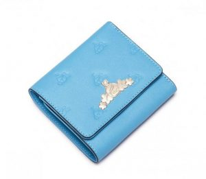 Maly Portfel Damski niebieski