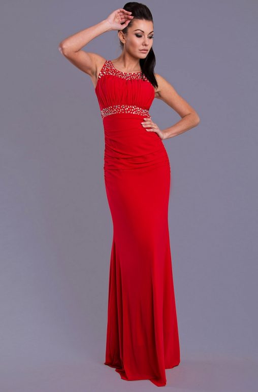 Wieczorowa długa sukienka maxi czerwona