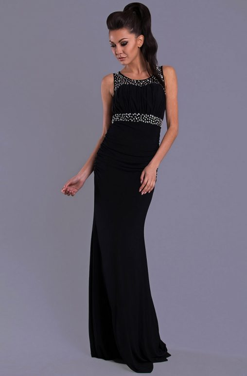 Wieczorowa długa suknia maxi czarna