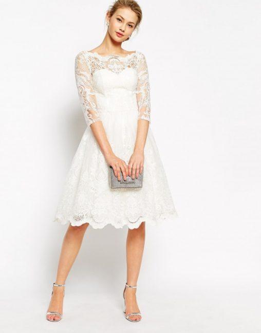 Sukienki koronkowe na wesele lub studniówkę kolor biały