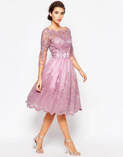 Sukienki tiulowe na wesele lub studniówkę kolor wrzosowy