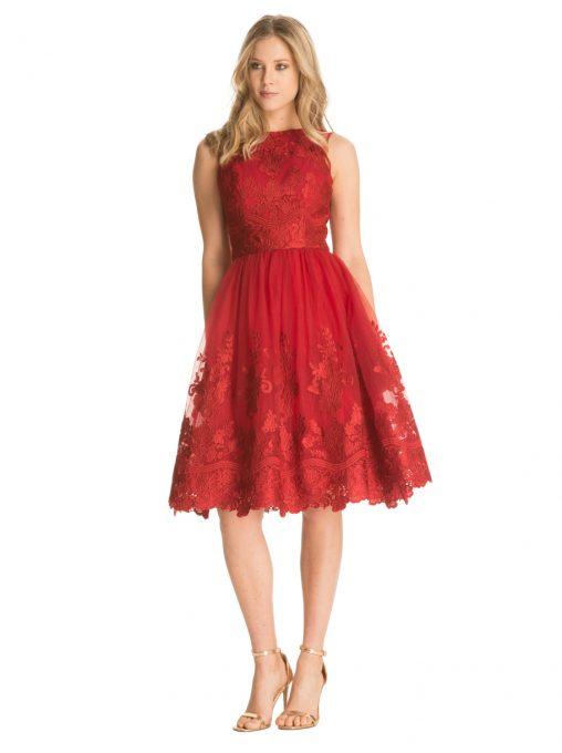 Sukienki tiulowe na bal lub wesele kolor bordowy