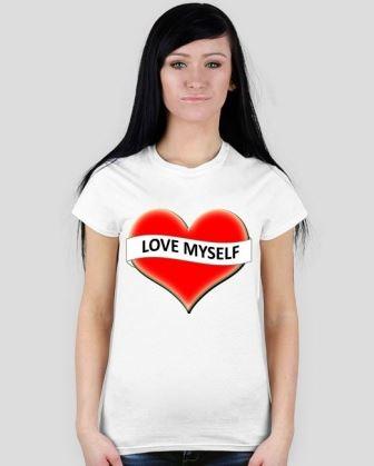 Damska koszulka t shirt z nadrukiem Love Myself