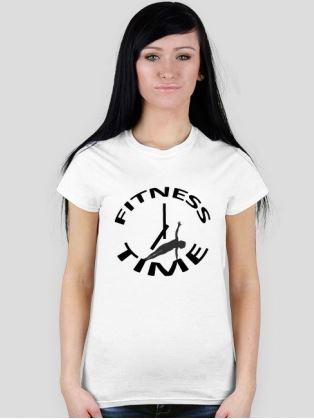 Damskie koszulki z napisem Fitness Time