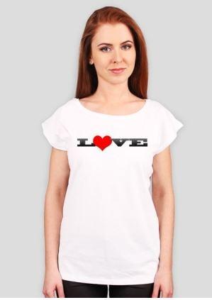 Koszulka damska z napisem LOVE