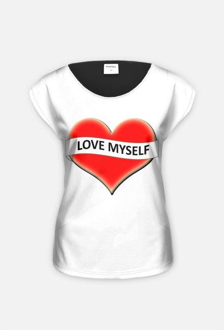 Damska koszulka LOVE nadruk
