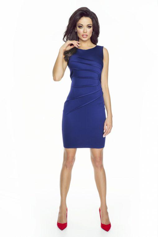 Granatowa elegancka sukienka do pracy