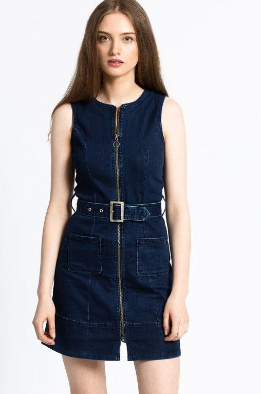 Sukienka jeansowa trapezowa szmizjerkaSukienka jeansowa trapezowa szmizjerka