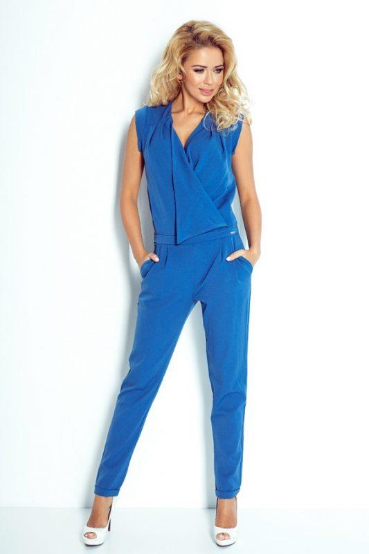 Elegancki kombinezon damski niebieski