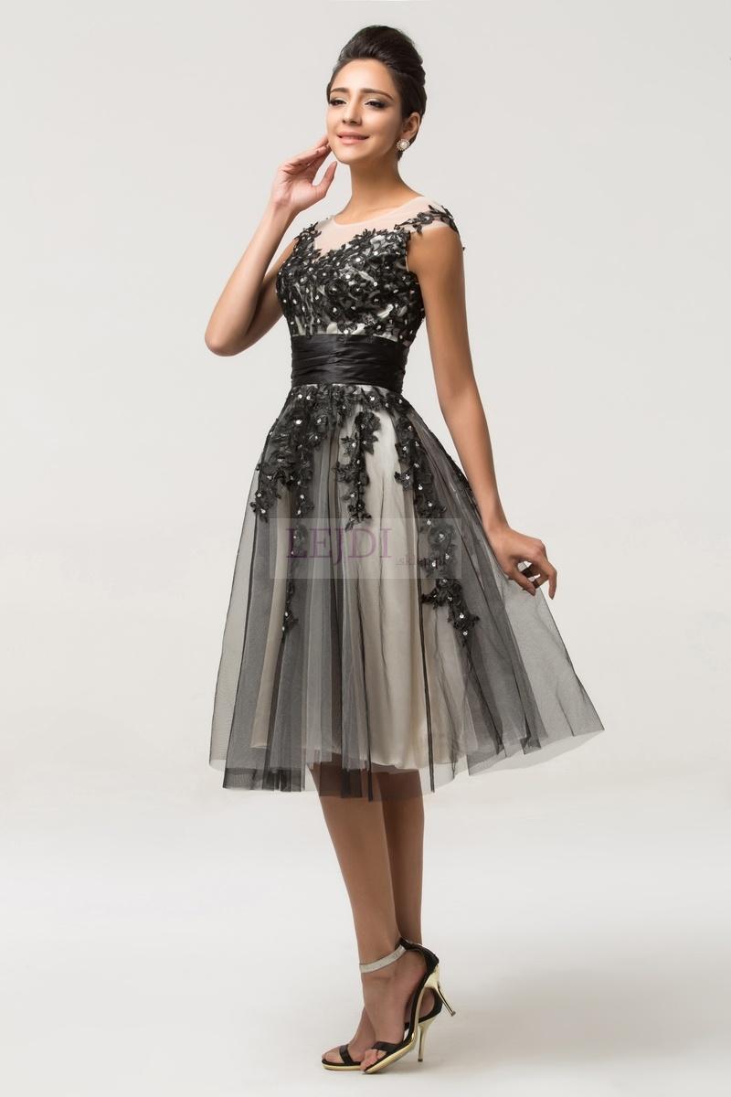 Tiulowa sukienka z koronką studniówka 2017