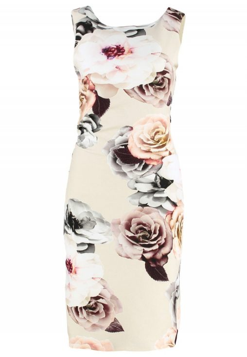 Eleganckie sukienki w kwiaty bez rękawów