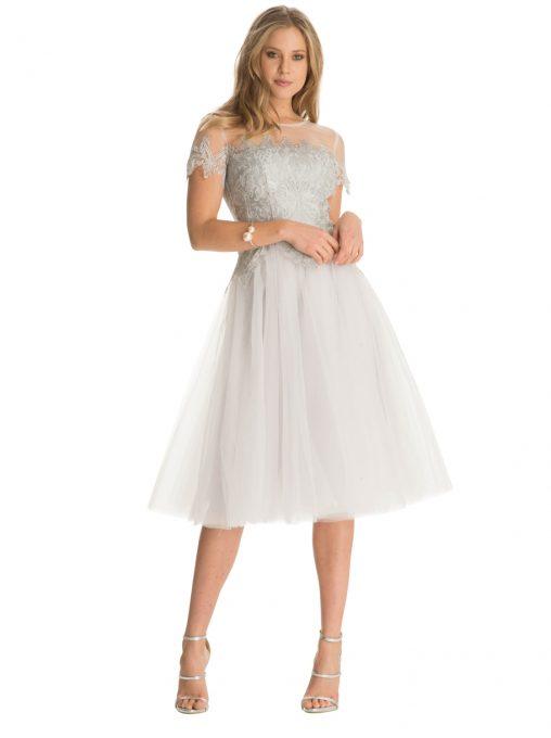 Haftowana sukienka z tiulu na wesele i studniówkę