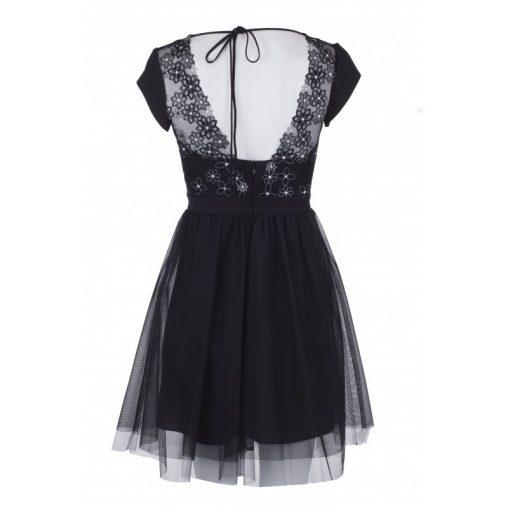 Czarna sukienka siateczka na sylwestra lub wesele