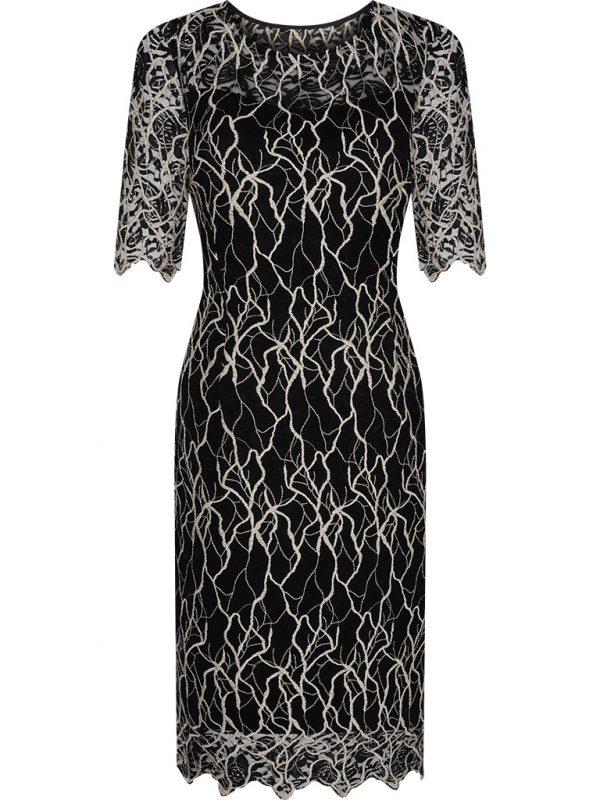 Czarna koronkowa wieczorowa sukienka