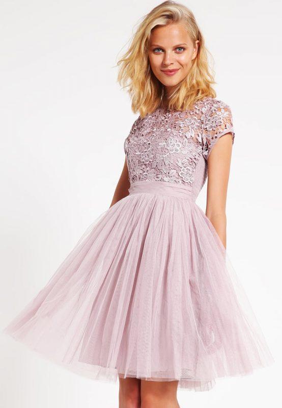 Fioletowa sukienka koktajlowa