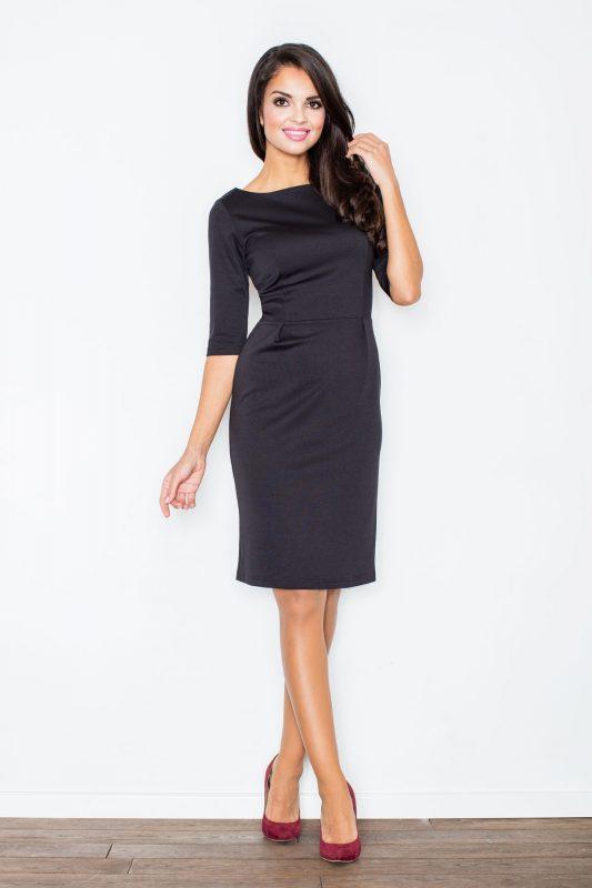 Klasyczna czarna sukienka elegancka