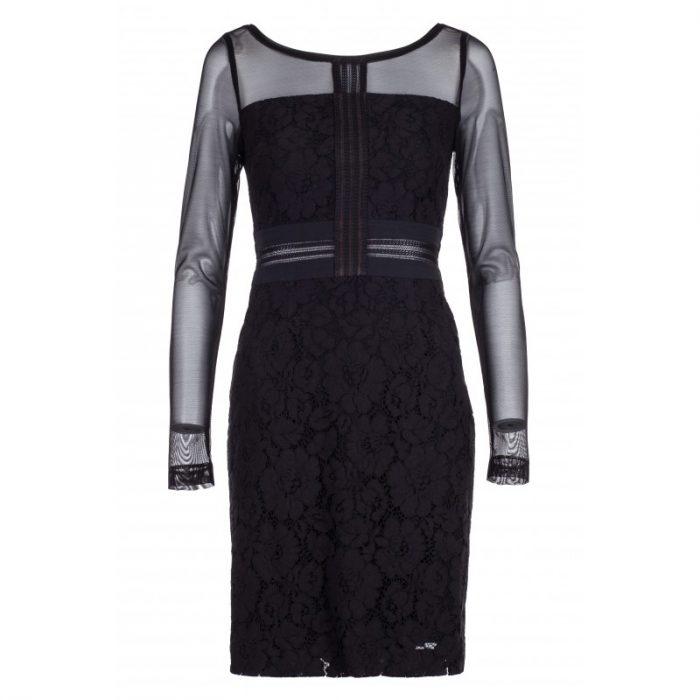 sukienka ołówkowa koronkowa czarna