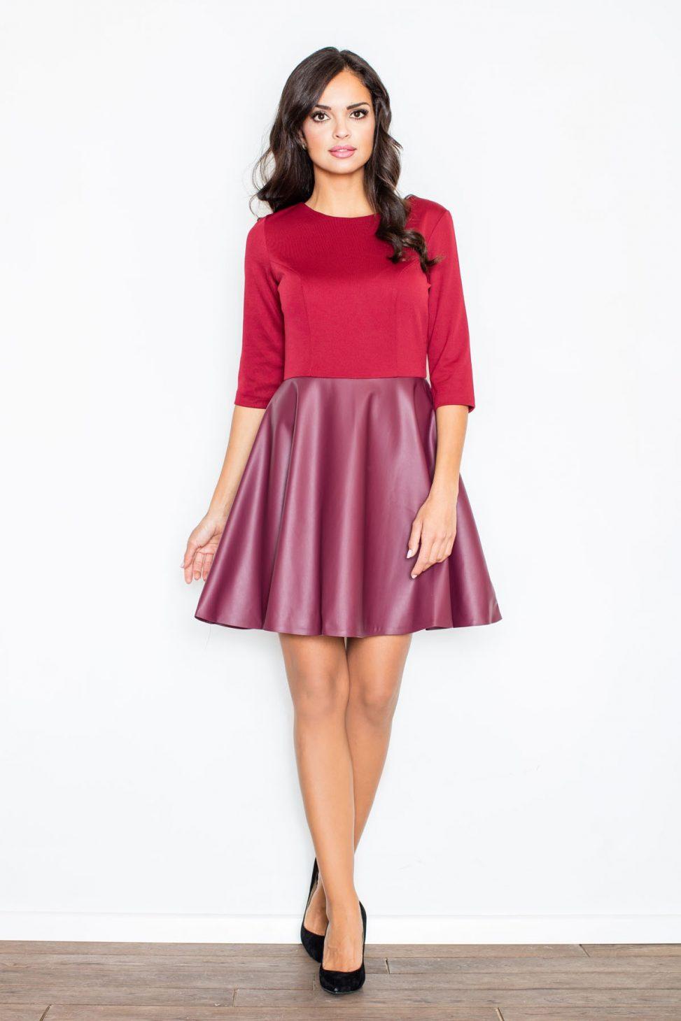 sukienki skórzane spódnica plus bluzka