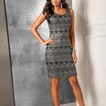 Srebrna połyskująca sukienka na sylwestra