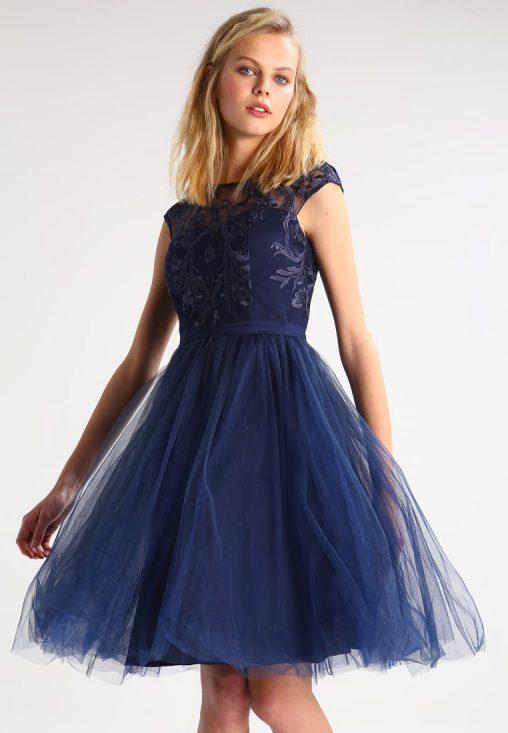 sukienka z tiulowym dołem na studniówkę i wesele