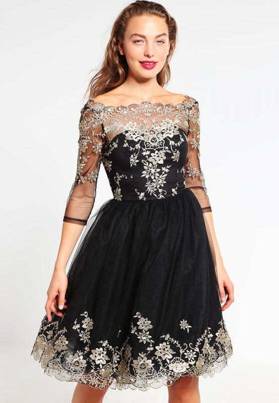Czarna sukienka balowa na studniówkę i wesele