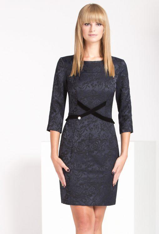 Elegancka sukienka żakardowa