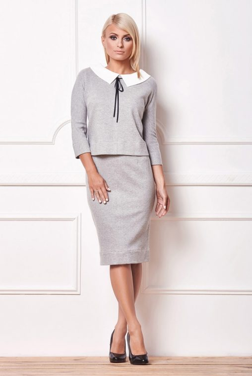 Komplet bluza i spódnica elegancki styl