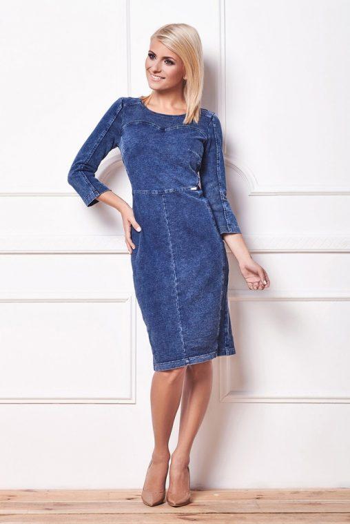 Sukienka z dżinsu dopasowana