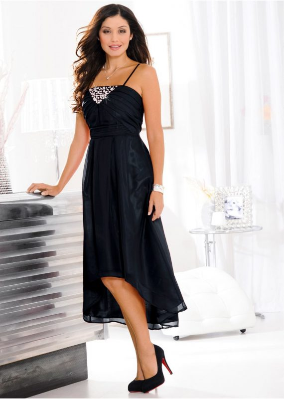 Sukienka czarna szyfonowa na wesele