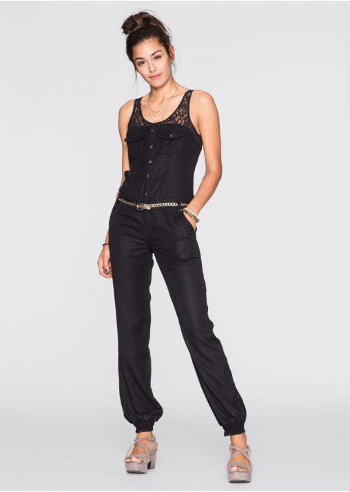 Kombinezon jeansowy damski bez rękawów
