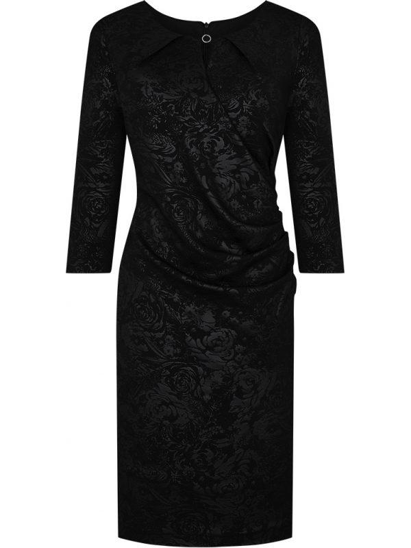 Czarna błyszcząca sukienka wieczorowa