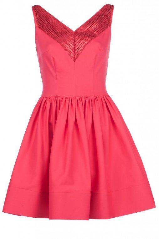 Czerwona sukienka w cekiny sylwester
