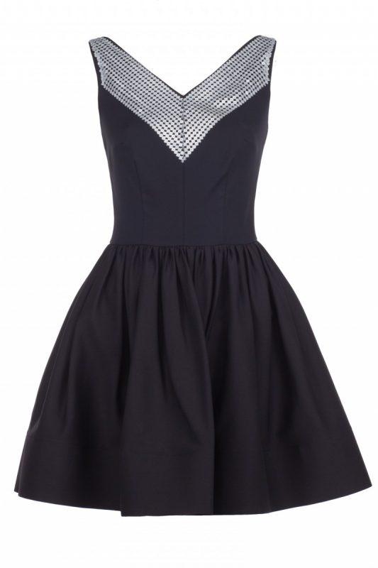 Sukienka czarna z cekinami na sylwestra