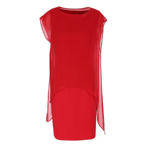 Sukienka tuszująca biodra czerwona