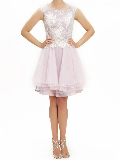 Różowa sukienka z tiulem na wesele i studniówkę