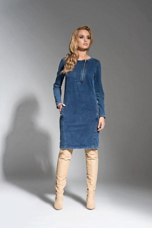 Sukienka dżinsowa midi