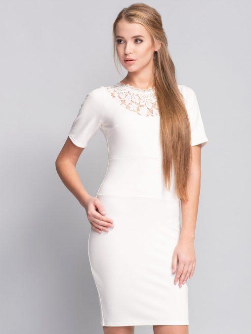 Biała sukienka ołówkowa