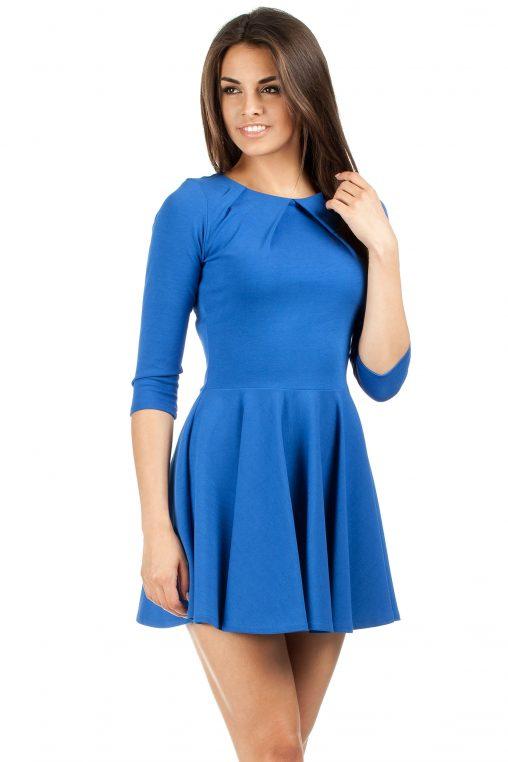Chabrowa sukienka młodzieżowa rozkloszowana