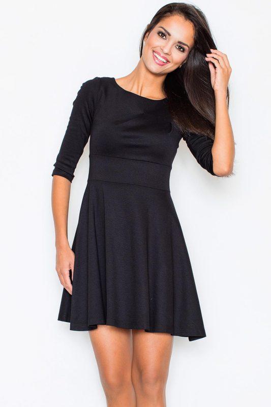 Śliczna czarna zwiewna sukienka