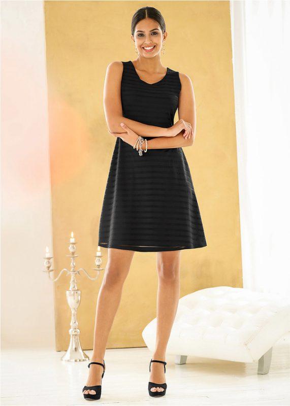Letnia czarna sukienka koktajlowa