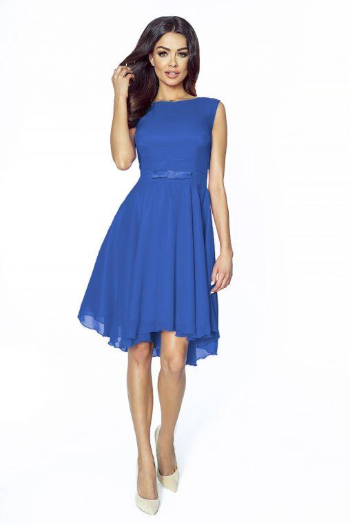Taliowana sukienka na wesele niebieska