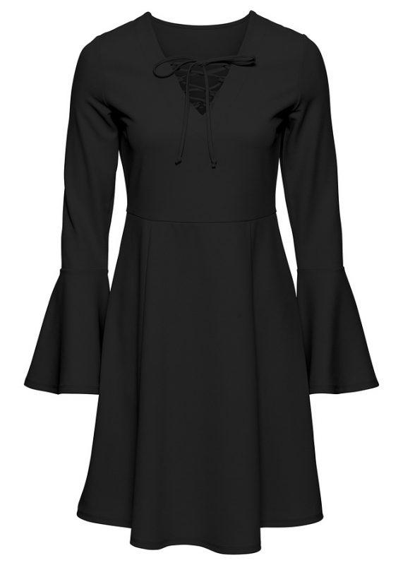 Sukienka wiązana w biuście czarna