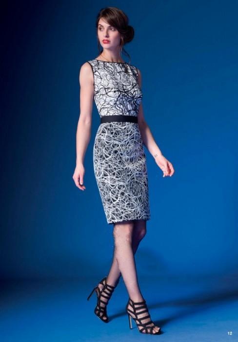 Elegancka dwukolorowa sukienka