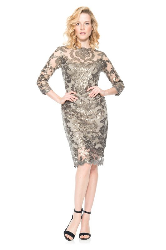 Ekskluzywna sukienka z koronką i tiulem
