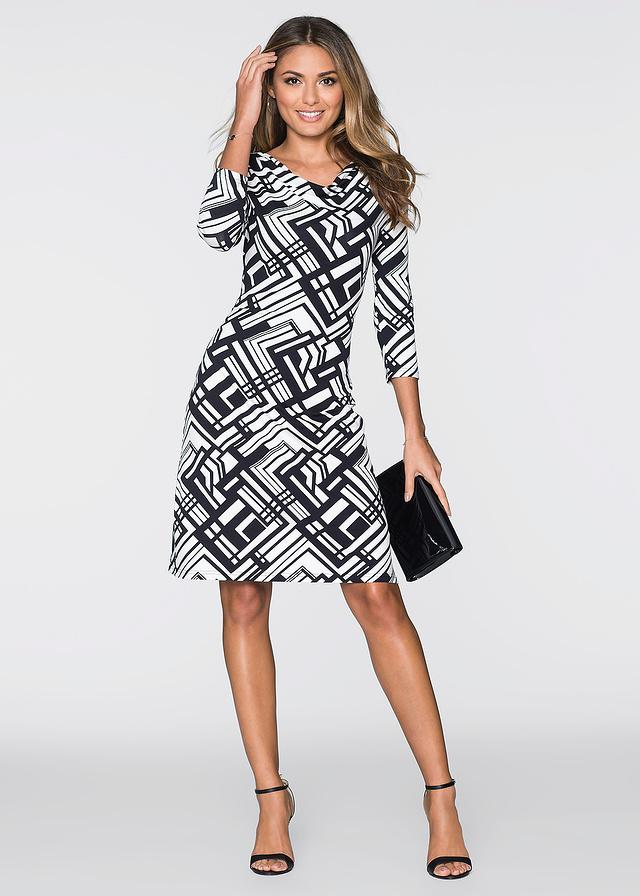 Elegancka sukienka z jerseyu wzory