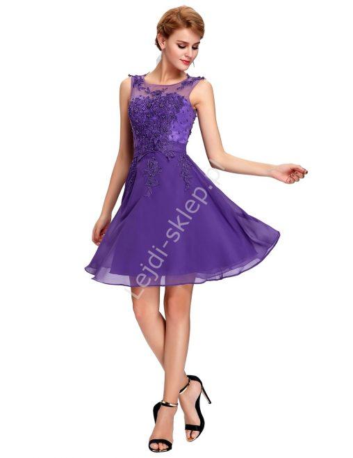 Sukienka na wesele fioletowa